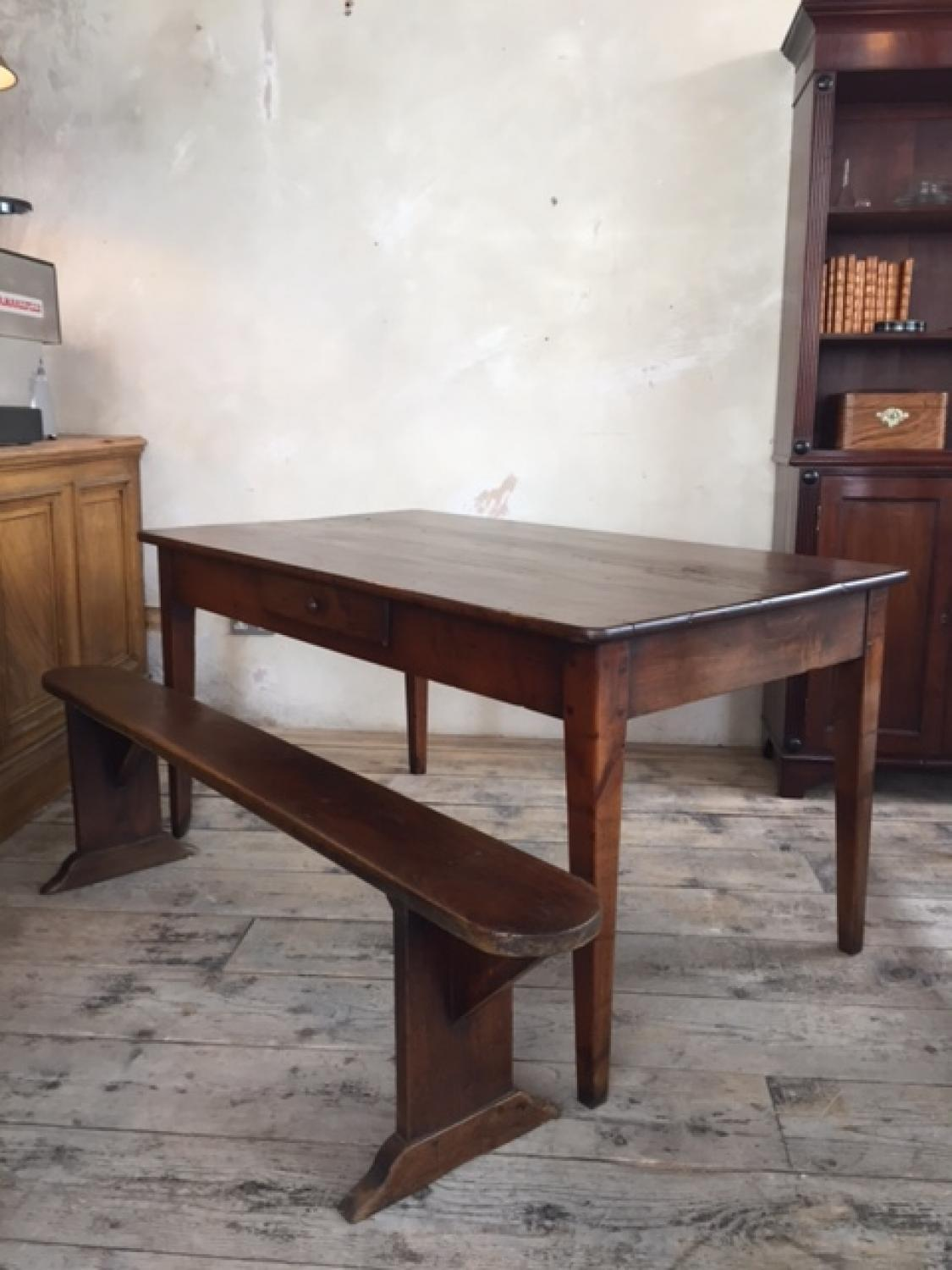 French Oak & Cherry Farmhouse Table c19th