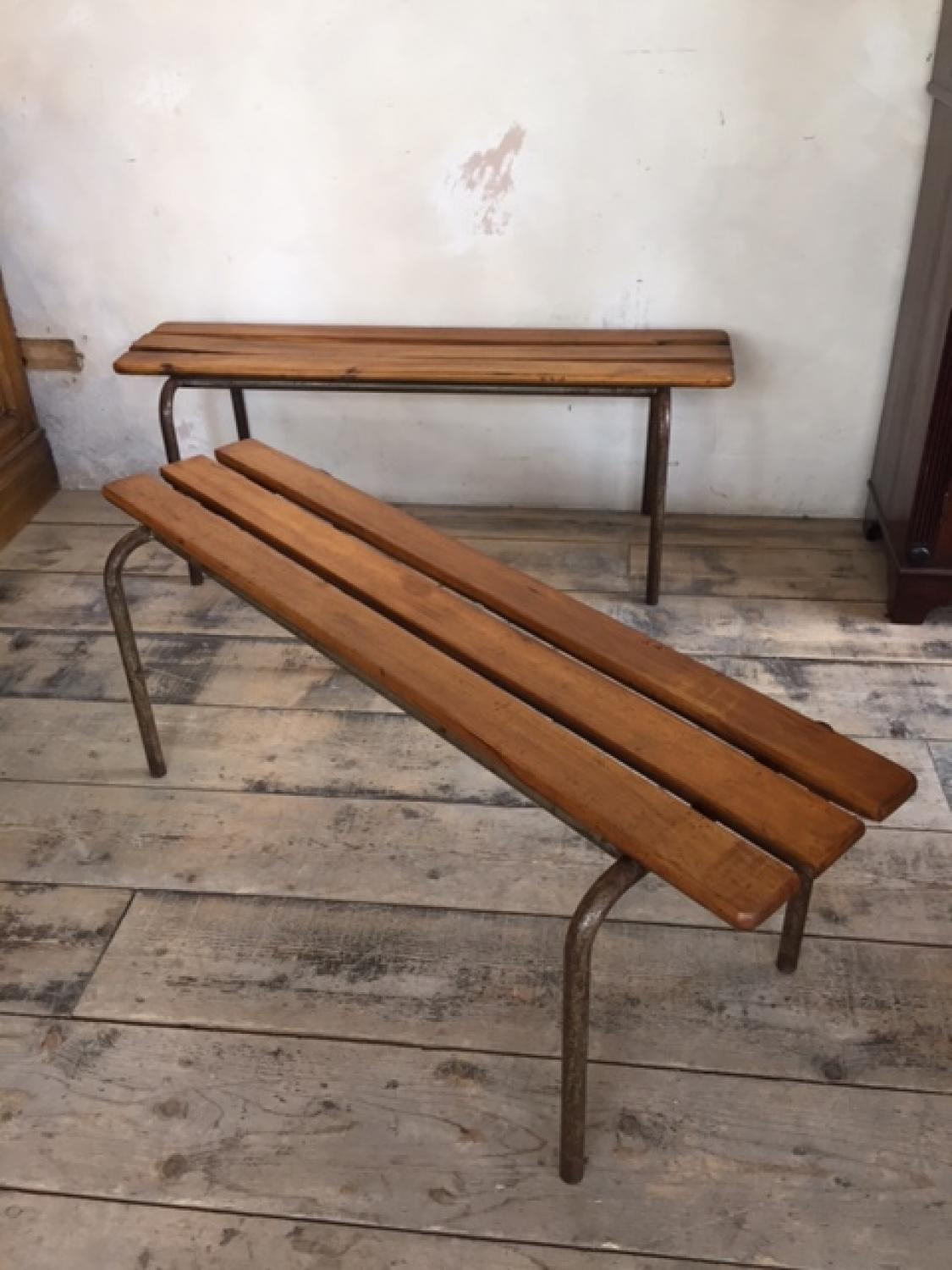 Two French College Benches