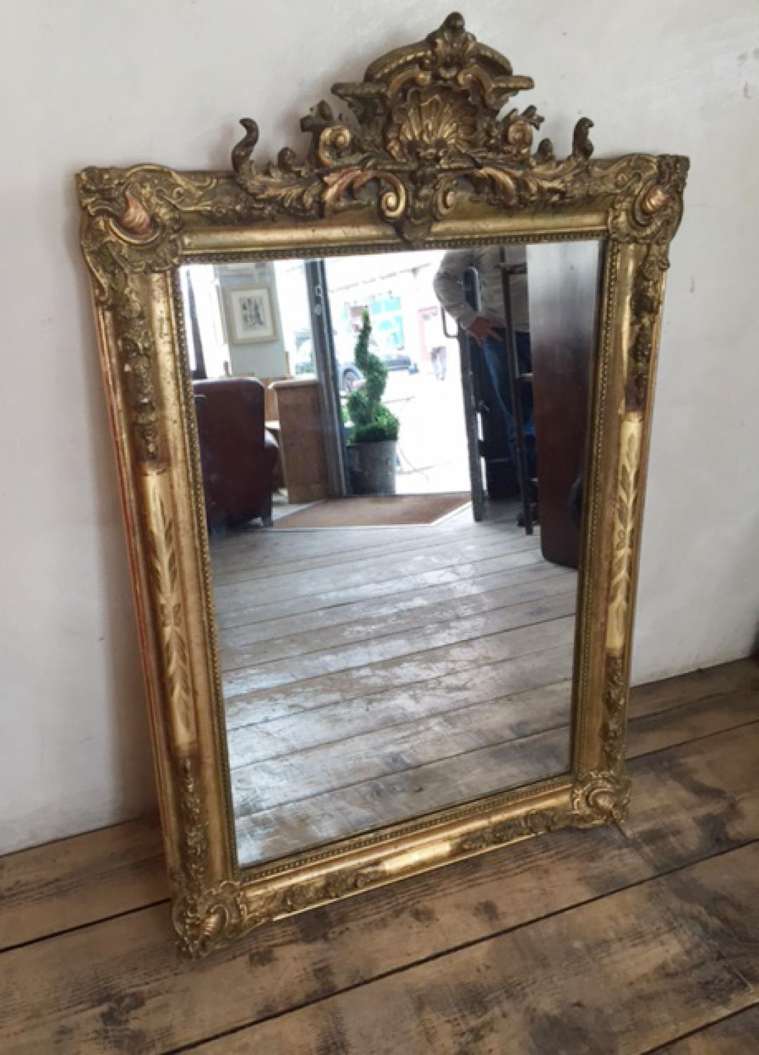 French Gilt Mirror c1870