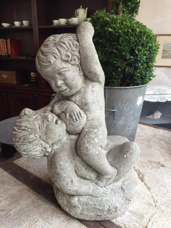 Wrestling Cupids - Reconstituted Stone