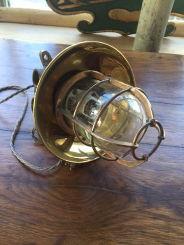 Polished Brass Japanese Bulk Head Light