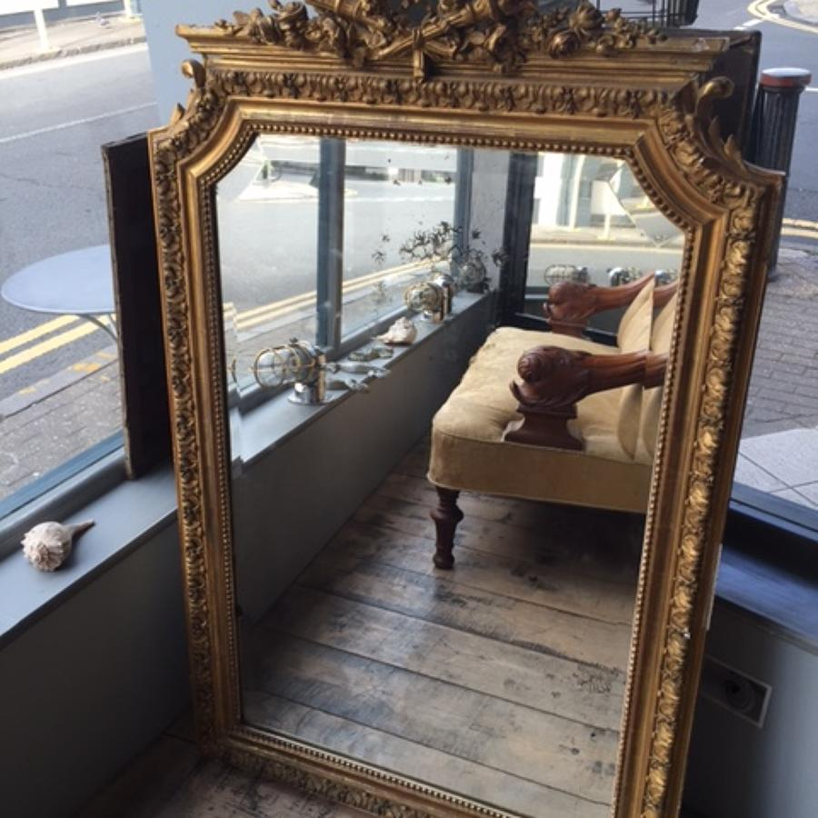 French Overmantle Mirror C1890