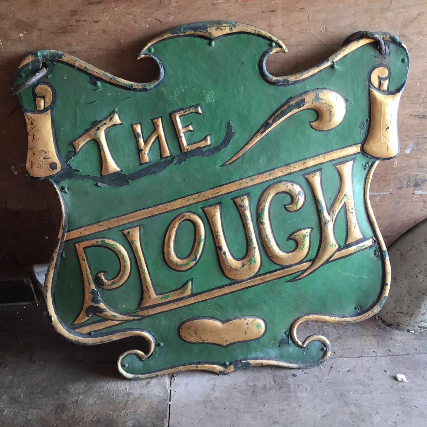 Double Sided Toleware Pub Sign c1900