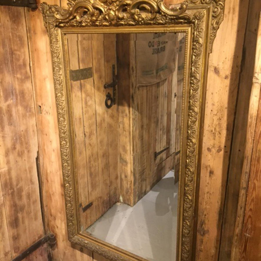 Large French Overmantle Mirror