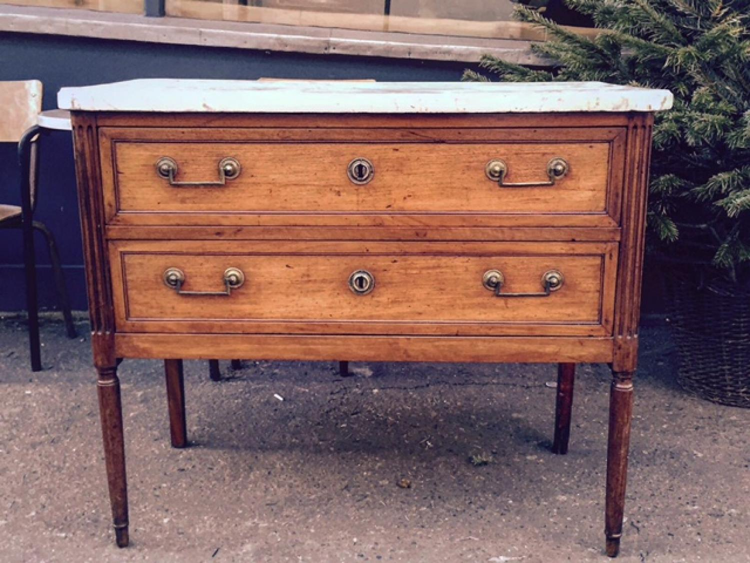 C18th Louis XVI Fruitwood Commode
