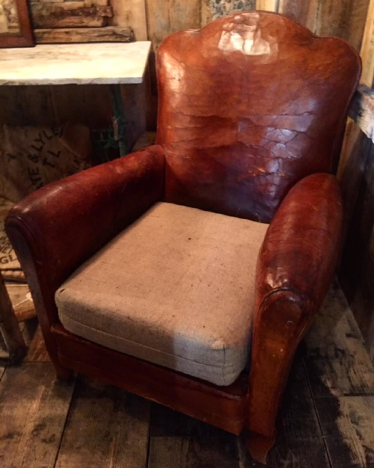 French Cloud Back Club Chair