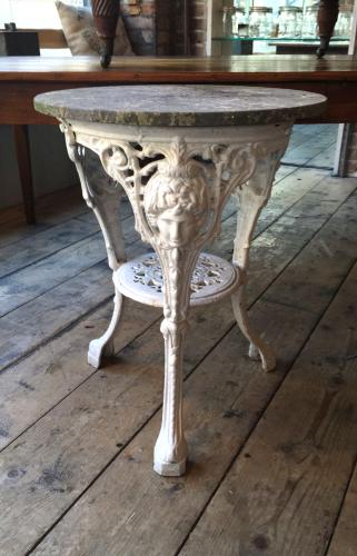 Marble Top Victorian Pub Table