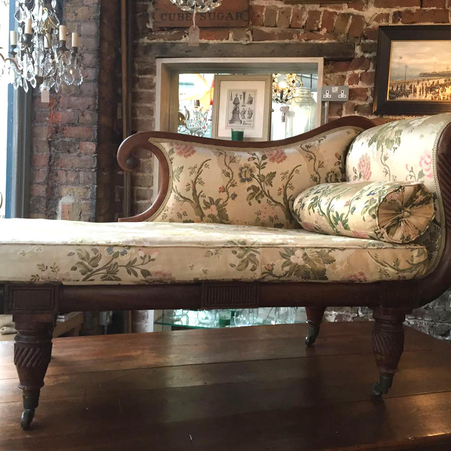 Regency Mahogany Chaise Longue