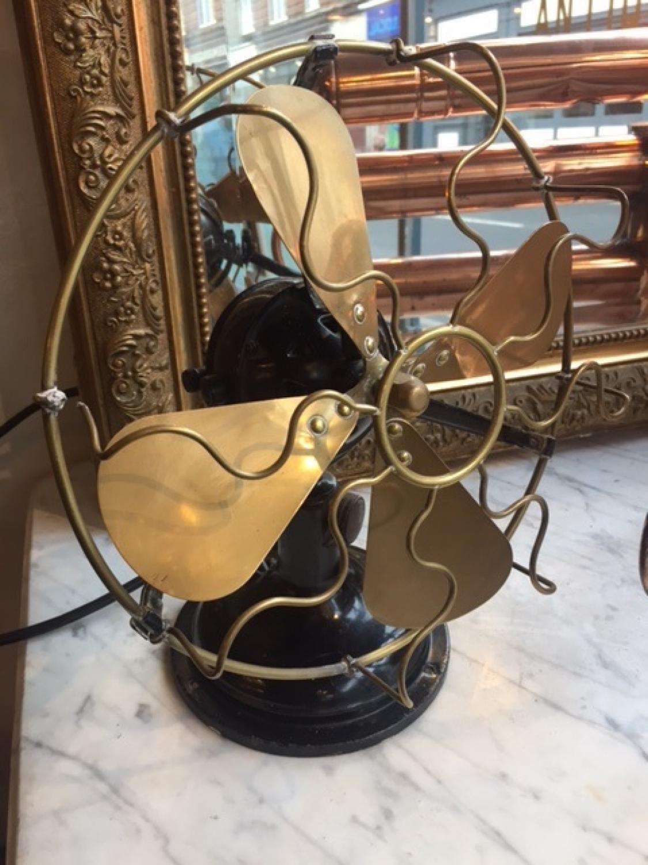 Early 20th Century Brass & Metal Desk Fan