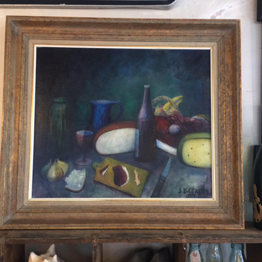 French Still Life - Oil on Board