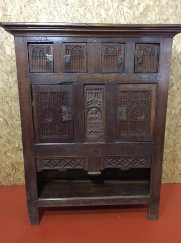 C17th Oak Aumbry Cupboard