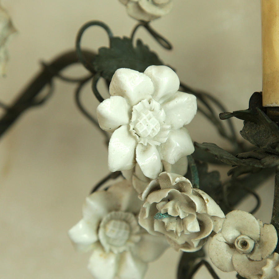 Porcelain  floral wall lights