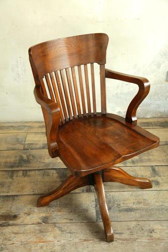 1920's Oak Desk Chair