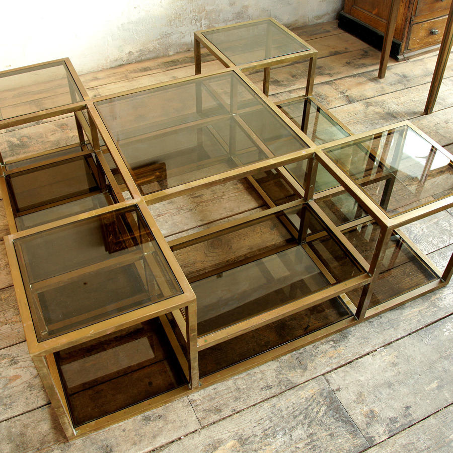 Atelier Design 1970s Brass Coffee Table