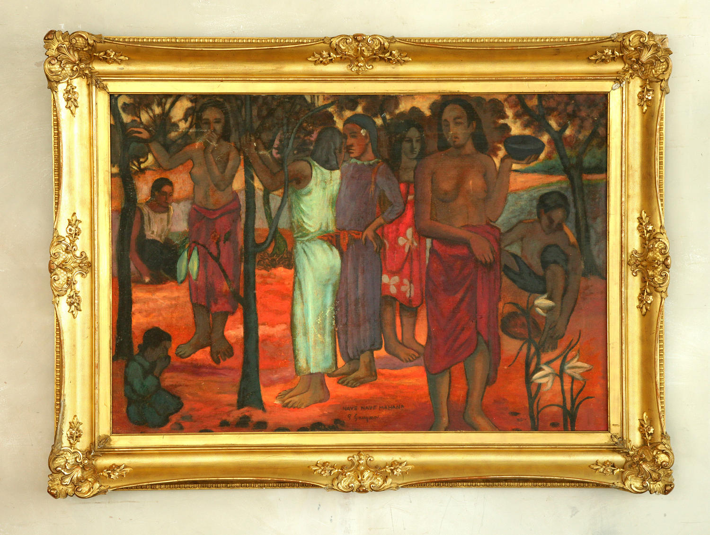Oil on canvas after Paul Gauguin