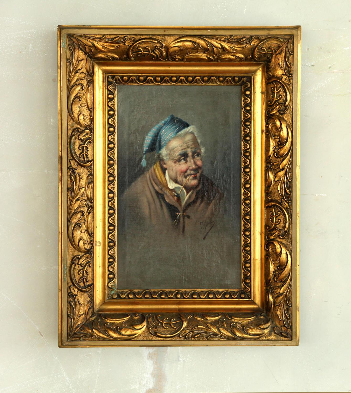 Pair of Italian portraits of Man & Woman  C1880