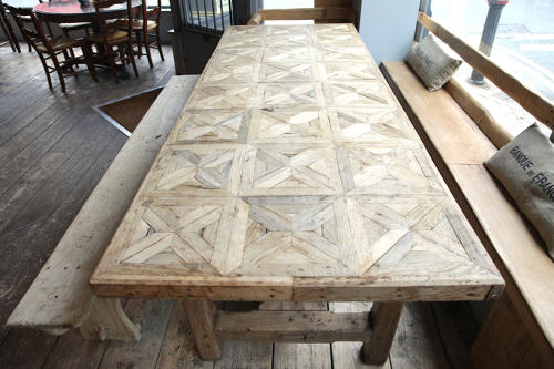 French Oak Parquetry Top Rustic Dining Table C 1830 In Furniture