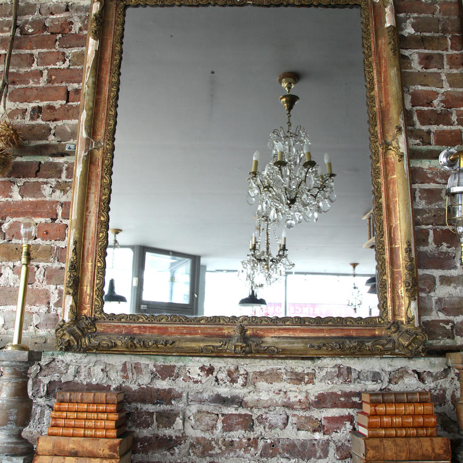Early 19th C Giltwood French Mirror