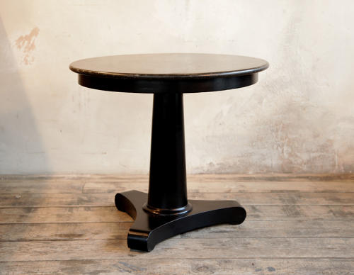 Ebonised Marble Top Centre Table Charles X C 1830