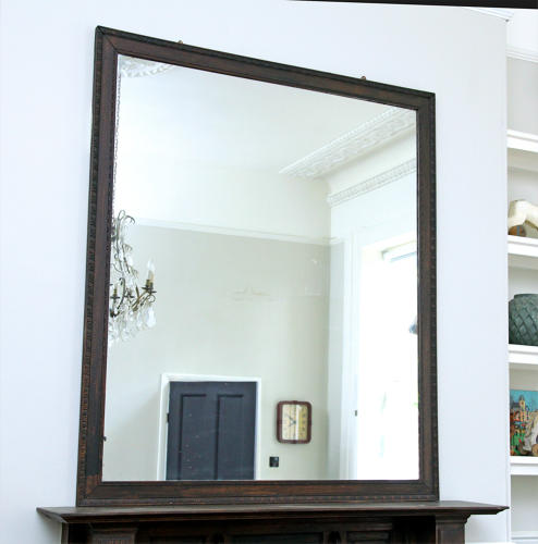 Oak Bistro Mirror c1900