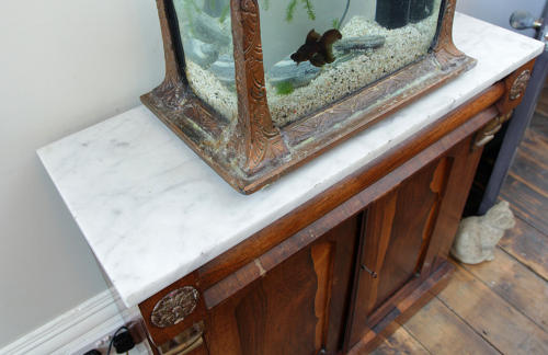 George IV Rosewood Chiffonier with Carrara marble top  in