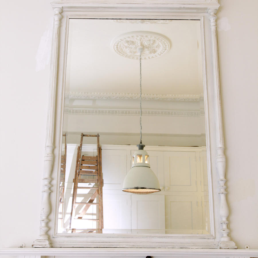 Large Painted Ovemantel mirror C 1880