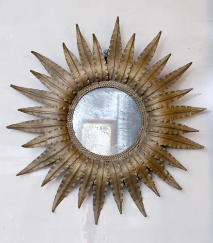Sunburst Gilt Metal Mirror C1950