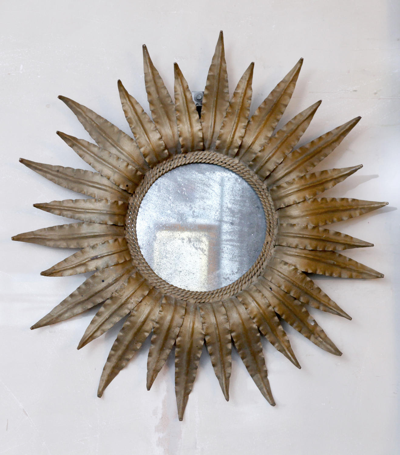 Sunburst Gilt Metal Mirror C1950