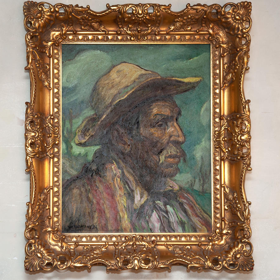 Francisco Ramoneda (1905-1977) Oil on Board portrait of a Gaucho