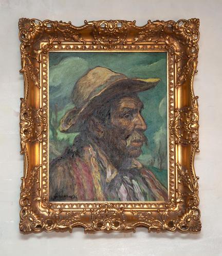 Francisco Ramoneda (1905-1977) Oil on Board portrait of a Gaucho