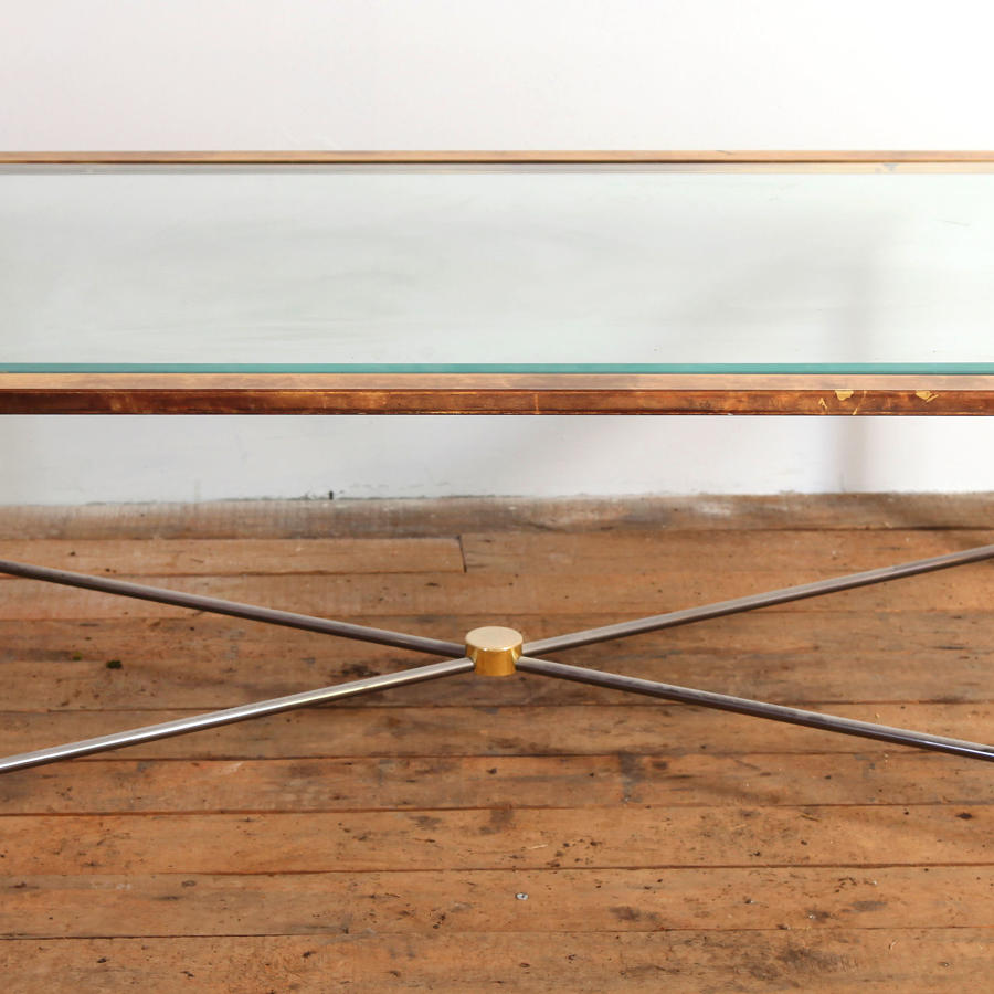 Glass and Brass Coffee table C1970s