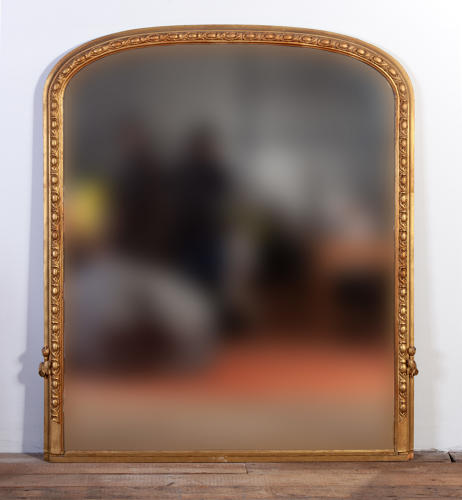 An English Victorian overmantel mirror