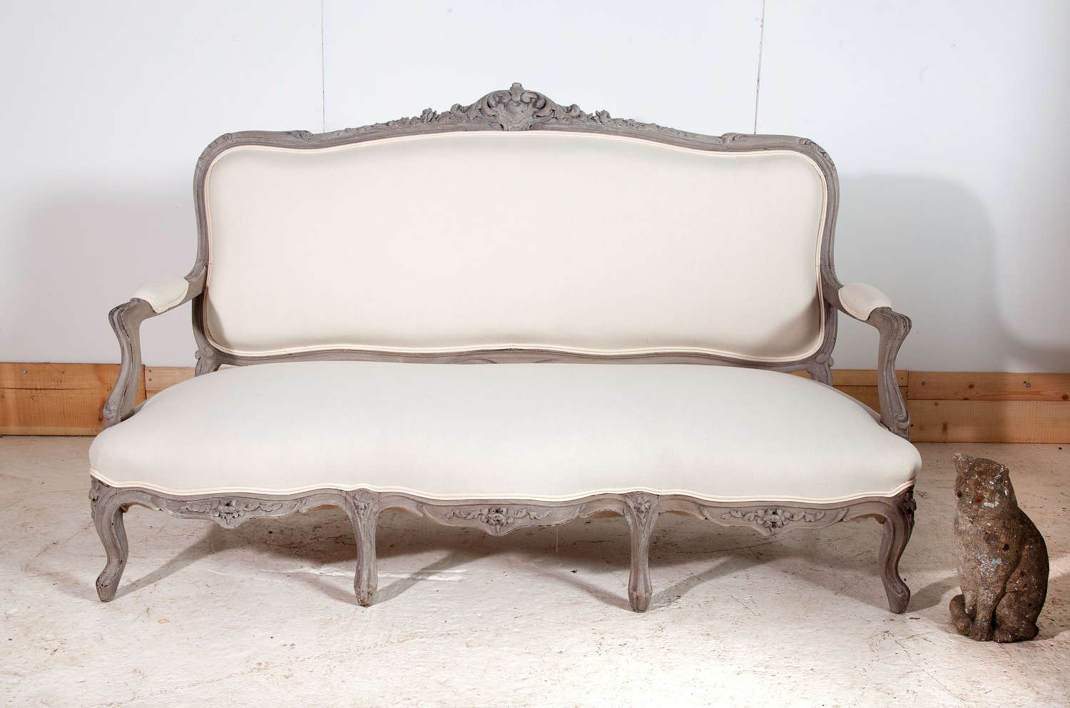 19th Century French Painted Canape Sofa in Louis XV Style