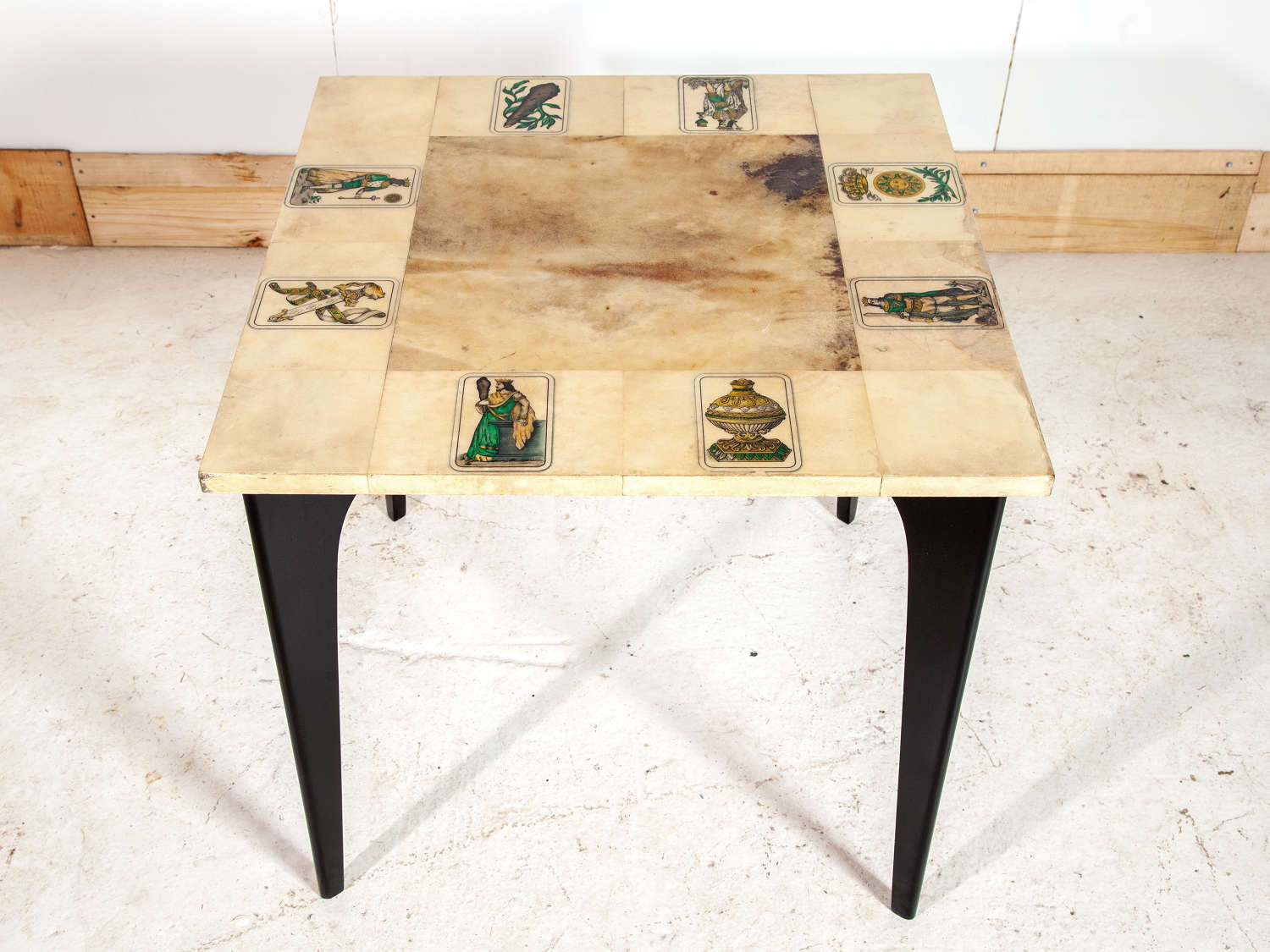 Aldo Tura Goat Skin Games Table
